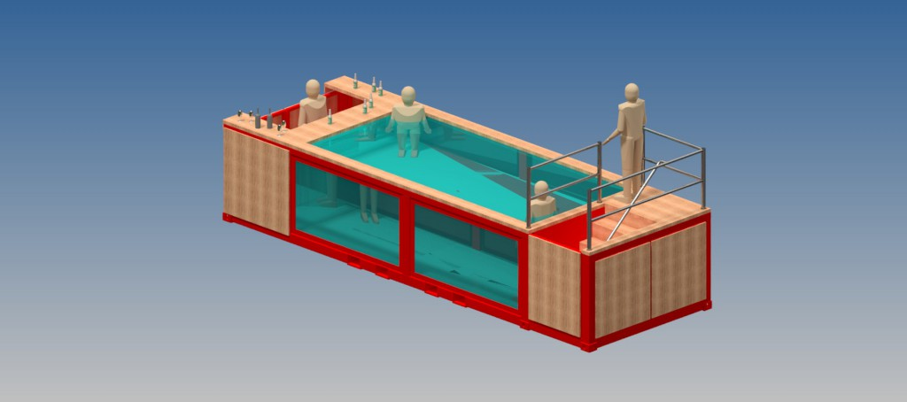 Mobile Pool mobile swimming pool bars making a splash | precision metal group